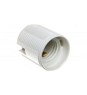 Oprawka izolacyjna FOBOS E27 jednoczęściowa z gwintem zewnętrznym biała OTE27-11/0/T