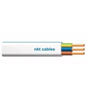 NKT Przewód prądowy instal plus YDYp 3x2,5 żo biały 450/750 50m