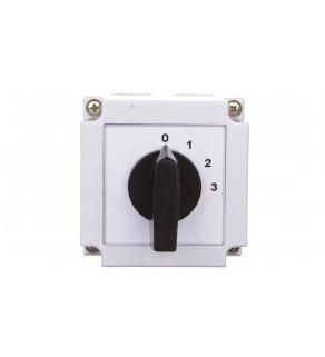 Łącznik krzywkowy 0-1-2-3 1P 10A w obudowie 4G10-108-PK
