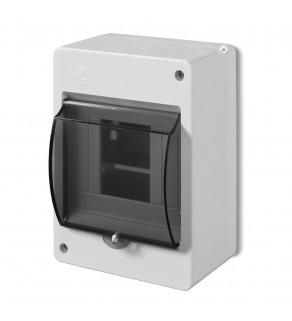 Rozdzielnia elektryczna modułowa 1x4 natynkowa z tworzywa sztucznego IP20 biała ELEKTRO-PLAST NASIELSK