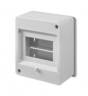 Rozdzielnia elektryczna modułowa 1x5 natynkowa z tworzywa sztucznego IP30 biała ELEKTRO-PLAST NASIELSK