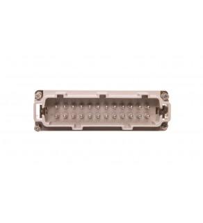 Wkład złącza 24P+PE męski 16A 500V EPIC H-BE 24 SS 10204100