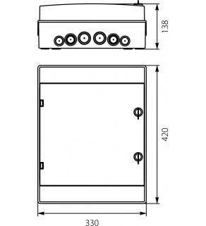 Rozdzielnia elektryczna modułowa 2x12 natynkowa z tworzywa sztucznego IP65 biała ELEKTRO-PLAST OPATÓWEK