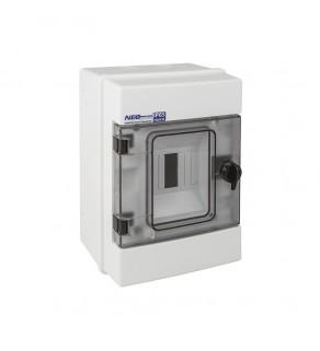 Rozdzielnia elektryczna modułowa 1x4 natynkowa z tworzywa sztucznego IP65 biała ELEKTRO-PLAST OPATÓWEK