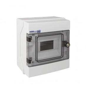 Rozdzielnia elektryczna modułowa 1x6 natynkowa z tworzywa sztucznego IP65 biała ELEKTRO-PLAST OPATÓWEK