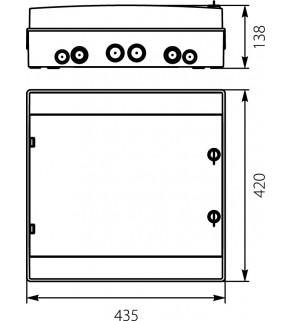 Rozdzielnia elektryczna modułowa 2x18 natynkowa z tworzywa sztucznego IP65 biała ELEKTRO-PLAST OPATÓWEK