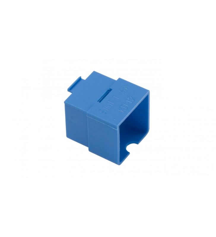 Króciec dystansowy 22x22mm do puszek szeregowych niebieski KD 12 37088003 /50szt.
