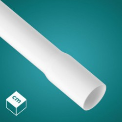 Rura gładka RLM 20 złącze kielichowe 2m (biała)