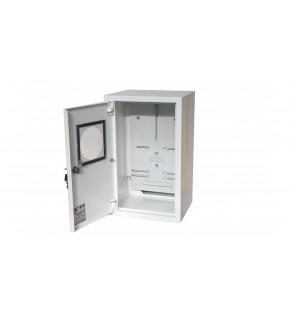 Rozdzielnica natynkowa licznikowa 1x3F zamek okienko RAL 9003A-RZ19