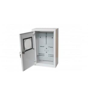 Rozdzielnica natynkowa licznikowa 1x3F na licznik elektroniczny zamek okienko RAL 9003 A-RZ19E