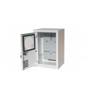Rozdzielnica natynkowa licznikowa 1x1F zamek okienko RAL 9003A-RZ18