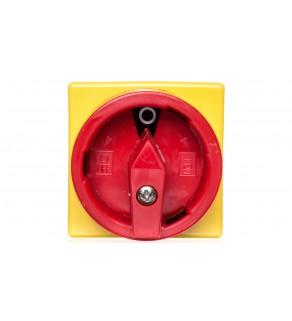 Pokrętło czerwono/żółte na drzwi IP65 wałek 238mm V/333-013723 652063